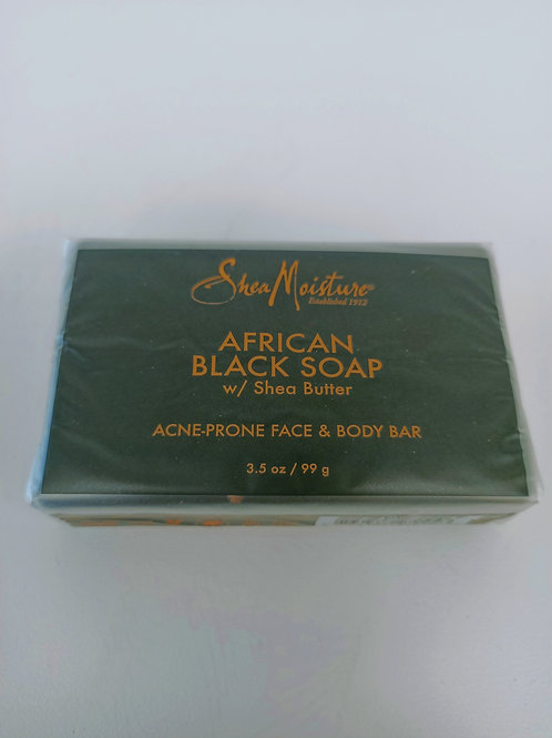 AFRICAN BLACK SOAP (WITH SHEA BUTTER)