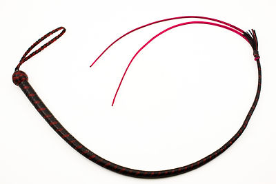 Black and Red 12 plait Dog Quirt
