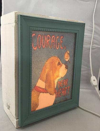 Courage Dear Heart Light box/ Night Light