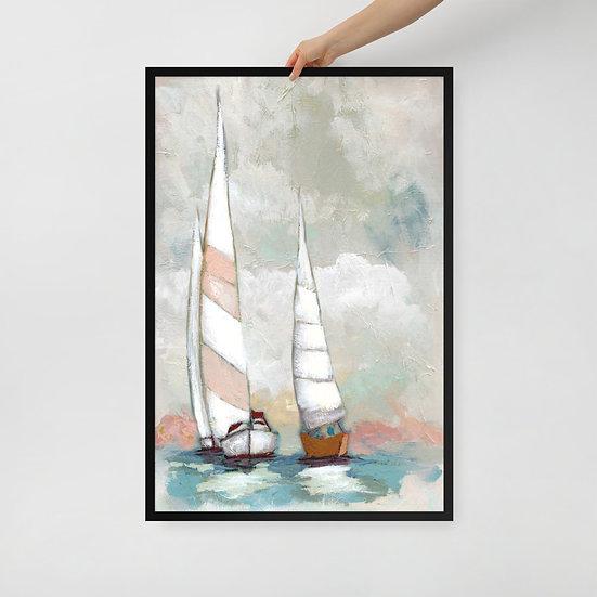 Sailboat Nautical Framed Art