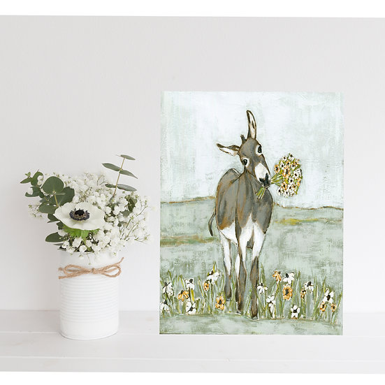 Donkey With Bouquet