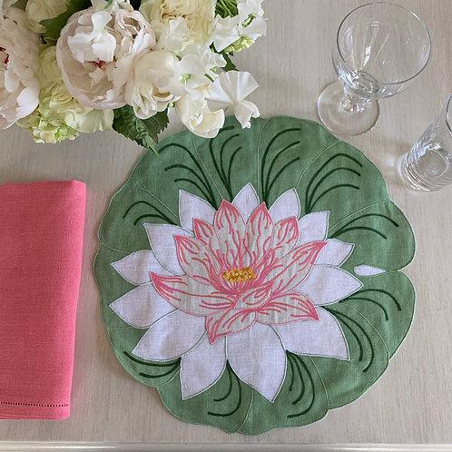 Coral Pink Linen Napkin