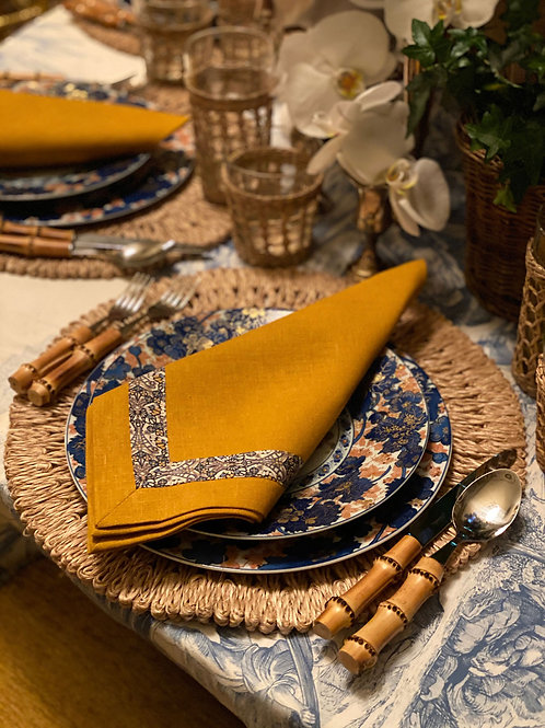 Round Natural Straw Placemat