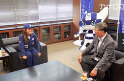 脇田紗良 藤沢市長訪問