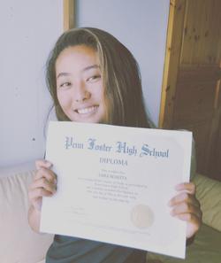 1年早く高校を卒業しました。