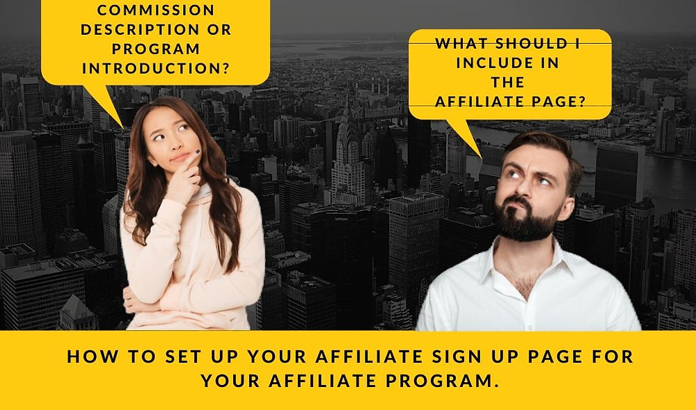 Affiliate Page set up
