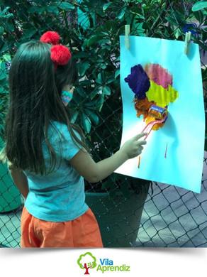 Alunos da Educação Infantil trabalham diversas habilidades em atividade lúdica