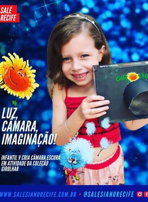 Infantil V cria câmara escura  em atividade da Coleção Girolhar