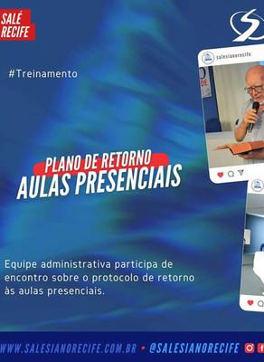 Protocolo de retorno às aulas presenciais é apresentado à equipe administrativa