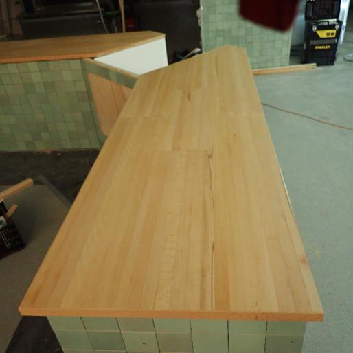 Laminated beechwood countertop/espresso bar