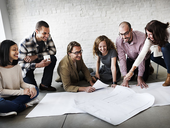 Creative Group Working Designing Concept