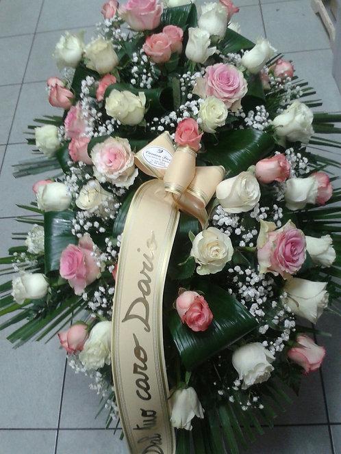 Cuscino funebre di rose