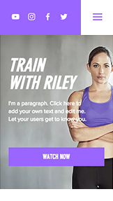 Sport & Recreation website templates – Online Fitness Video Course