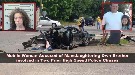 Mobile Woman Accused of Manslaughtering Own Brother involved in Two Prior High Speed Police Chases