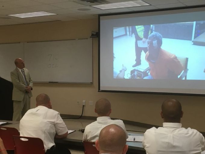 Matt Green instructs City of Mobile Police Cadets