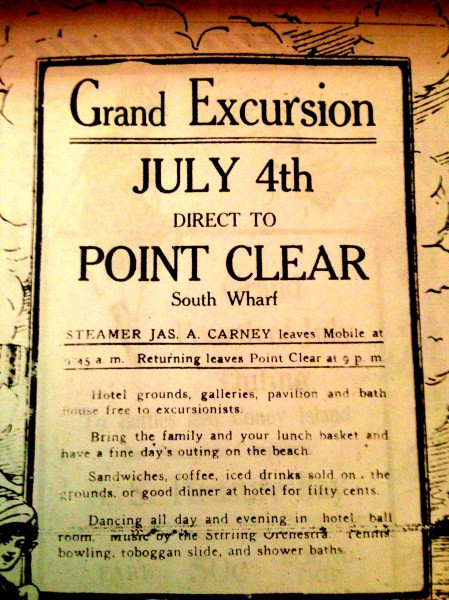grand excursion, point clear, July 4 1914