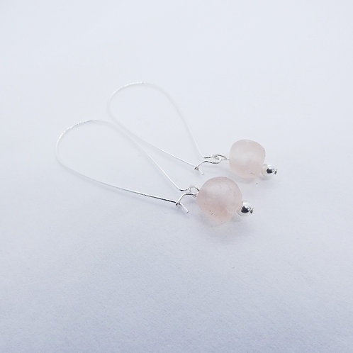 nkyene handmade recycled bead and sterling silver earring