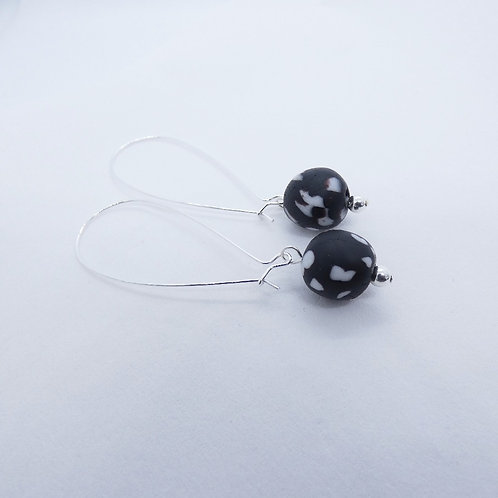 nkatasoɔ 3 handmade recycled glass and sterling silver earrings