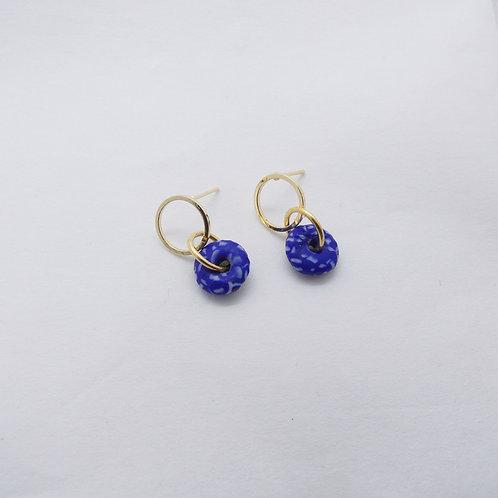ahwenneɛ 19 gold plated stud earrings