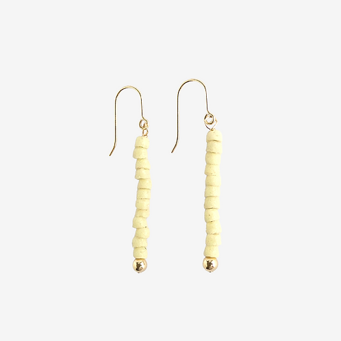 mmi3nsa gold filled drop earrings with tiny cream beads
