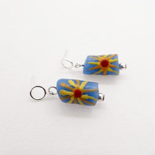awia bruu handmade recycled glass and sterling silver earrings