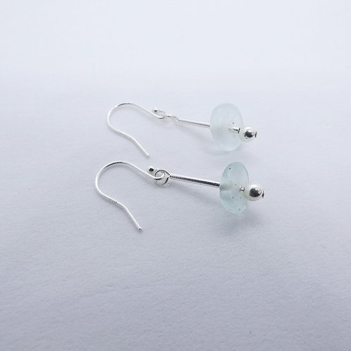 ahwenneɛ 11 recycled glass beads and sterling silver earrings
