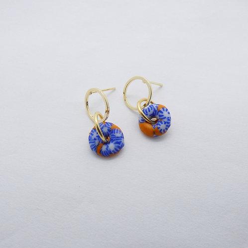 ahwenneɛ 21 gold plated stud earrings