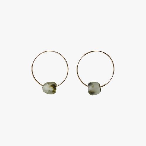 nsuo 2 gold filled large hoop earrings