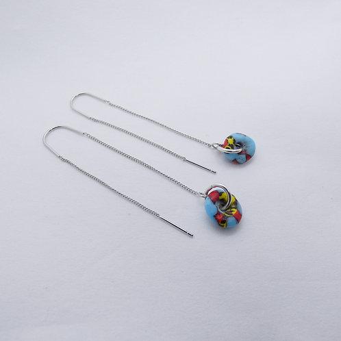 ahwenneɛ 18 silver plated earrings