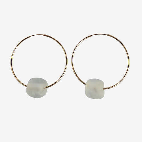 mmi3nsa gold filled large hoop earrings with clear medium beads