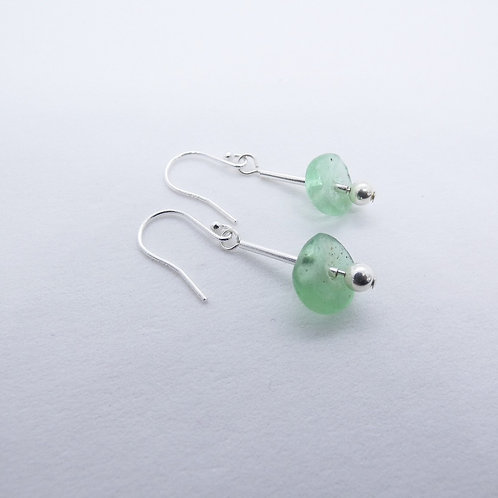 ahwenneɛ 17 recycled glass beads and sterling silver earrings