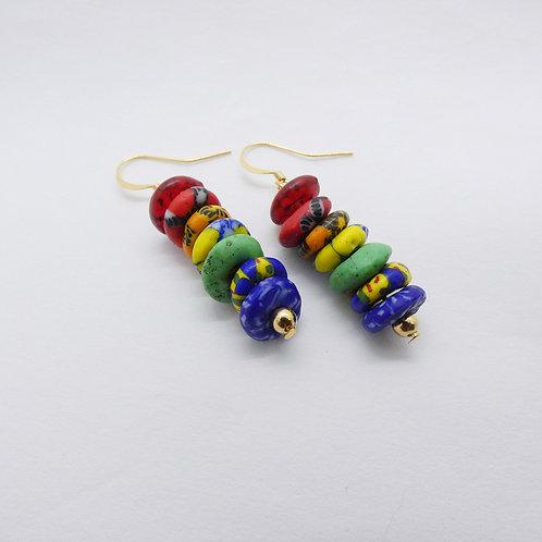 nyankontɔn 4 gold plated earrings