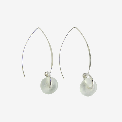 mmi3nsa sterling silver earrings with clear glass beads