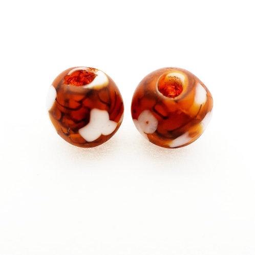nkatasoɔ 2 handmade recycled glass bead