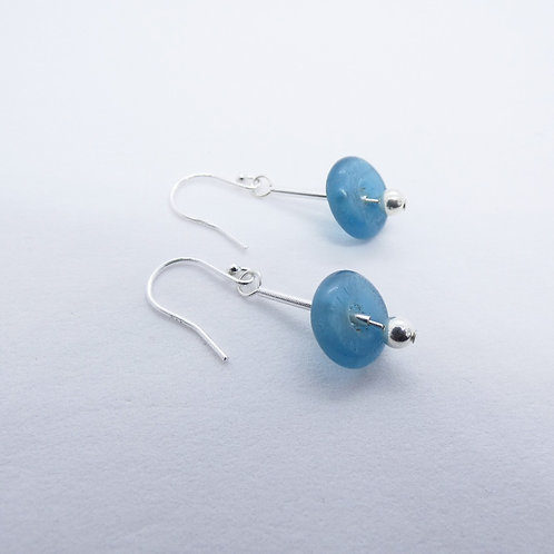 ahwenneɛ 14 recycled glass bead and sterling silver earrings