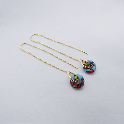 ahwenneɛ 18 gold plated earrings