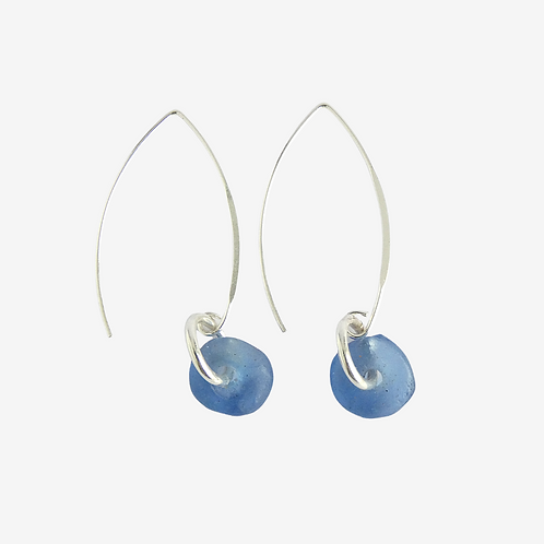 mmi3nsa sterling silver earrings with pale blue beads