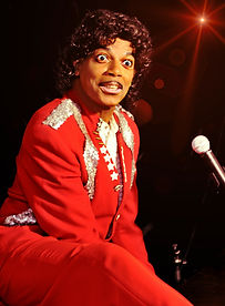 Little Richard Tribute Artist in Rock and Roll Reunion Premeditated Productions Palm Springs