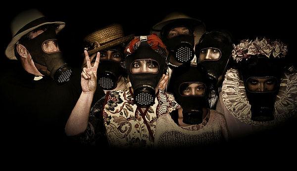 gas masks, air raid shelter, Britain at war,