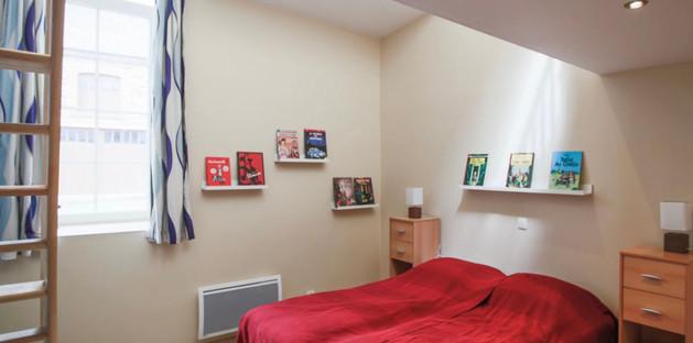 Chambre BD - 2 lits jumeaux  + 2 lits simple sur la mezzanine