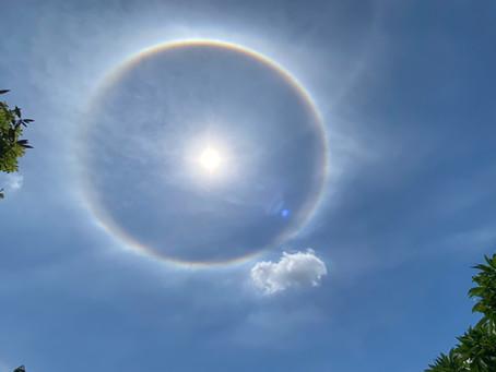 カンボジアで虹の輪🌈