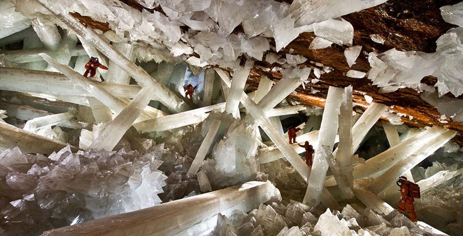 Caverna de Cristais em Naica no estado mexicano de Chihuahua
