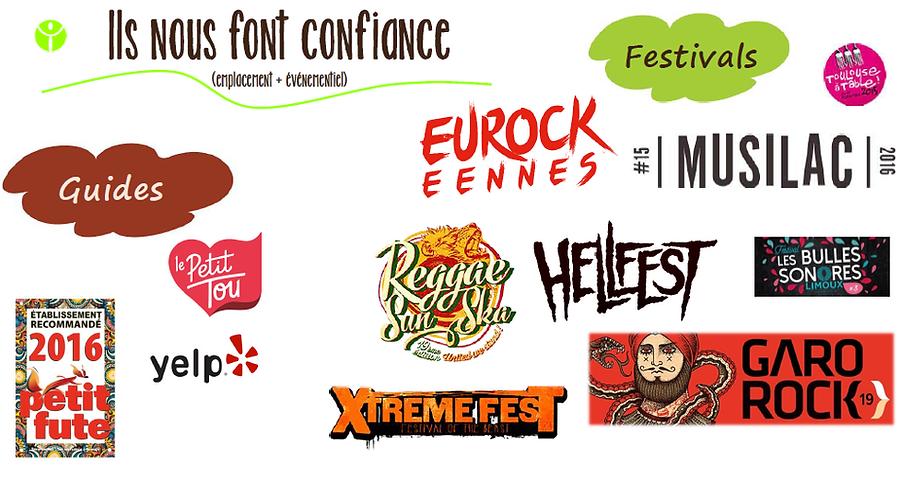 Guides et fesivals partenaires du Food truck / Traiteur L'Epicurieux basé à Toulouse
