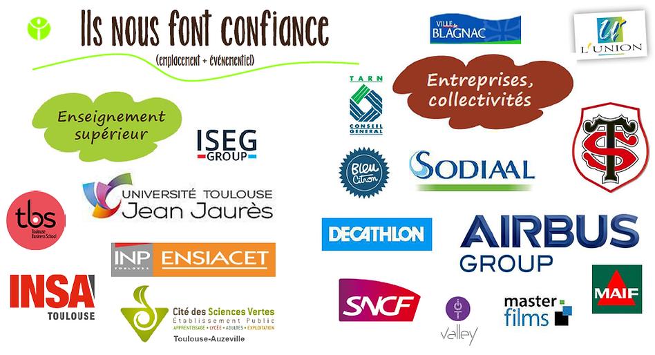 Ecoles, entreprises et collectivités partenaires du Food truck / Traiteur L'Epicurieux basé à Toulouse