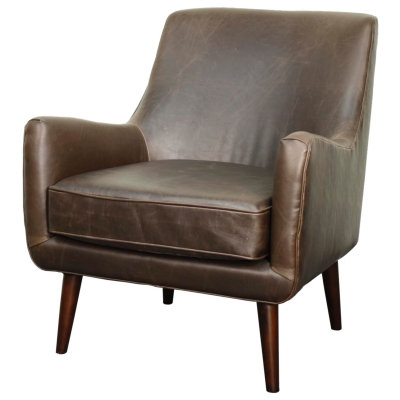 Zoey Chair in Vintage Brown Leather