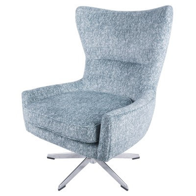 Cort Swivel Chair in Indigo Blue