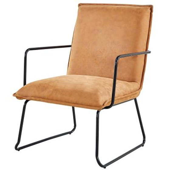Leather Accent Chairs Metal Legs Caramel.Denver Chair In Rusted Caramel Funkyfurnituresf