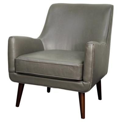 Zoey Chair in Vintage Grey Leather