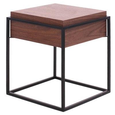 Khia Drawer End Table