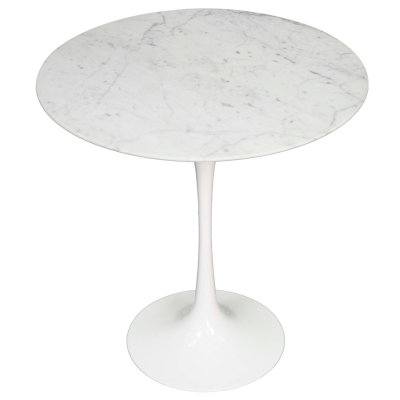 Chandra End Table in White
